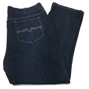 Lee Riders 22W Petite Embellished Pockets Stretch